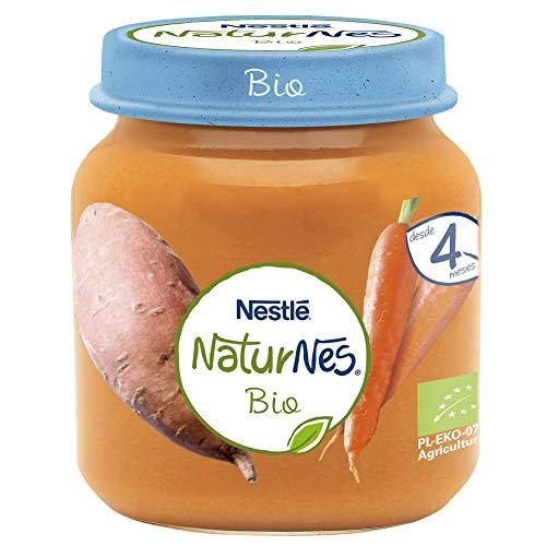 Nestlé Naturnes Bio Pure Tarrito Zanahoria Boniato Para BebésDesde 4 Meses - Pack de 12 tarritos 125g