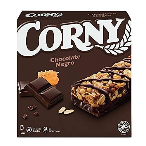 Corny Barritas de Chocolate Negro - Pack de 6x23g ✅