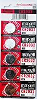 maxell CR2032 External Battery (5 Pack) for Universal - red, Hologram