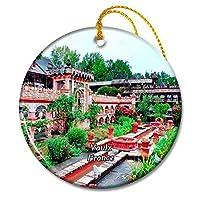 Vaulx フランス Jardins Secretsクリスマスオーナメントセラミックシート旅行お土産ギフト