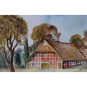 """Das Fachwerkhaus"" / Aquarellbild / 30 x 40 cm (Bild 20 x 30 cm)"
