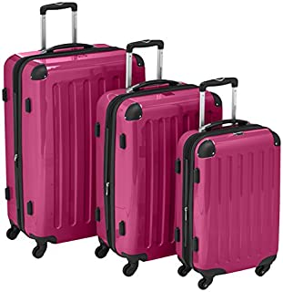 HAUPTSTADTKOFFER - Alex - Set of 3 Hard-side Luggages Trolley Suitces Expandable, (S, M & L), pink (B0055S5C2S) | Amazon price tracker / tracking, Amazon price history charts, Amazon price watches, Amazon price drop alerts