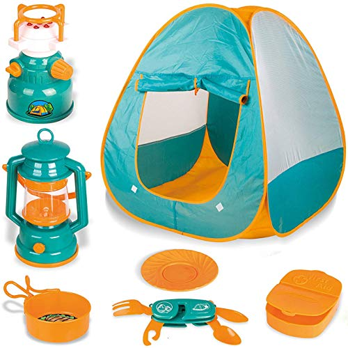 Little Explorers Kids Pop Up Play Tent with Camping Gear Outdoor Toy...