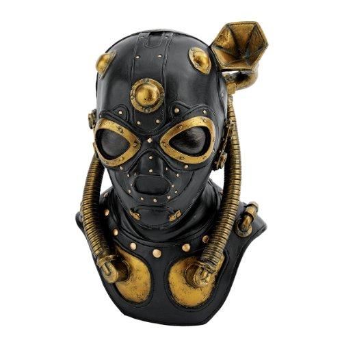 Design Toscano Steampunk Apocalypse Gas Mask Statue, Multicolored