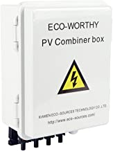 ECO-WORTHY 4 String PV Combiner Joint Box 10A Rated Current with Circuit Breakers and Lightning Arrester for On/Off Grid Solar Panel System