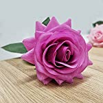10pcs rose artificial flower, single stem fake silk floral bridal wedding bouquet, realistic blossom flora for home garden wedding party hotel office decorations