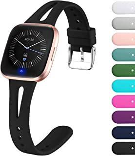 Ouwegaga Bands Compatible with Fitbit Versa 2/Fitbit Versa/Fitbit Versa Lite/Special Edition Versa 2 Silicone Wristbands for Women Men Small Large Multi Colors