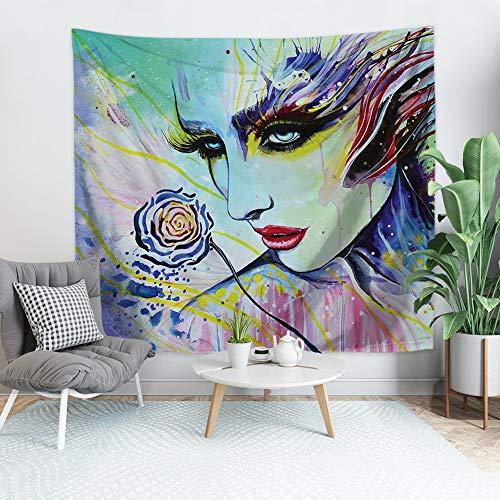Tapiz trippy de poliéster fino Art Color Figure Tapiz para colgar en la pared, sala de estar, dormitorio, cojín de playa toalla fiesta