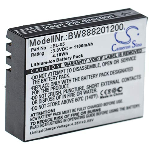 vhbw Batteria compatibile con EZVIZ S5 Plus, S5 Plus Sports videocamera camcorder (1100mAh, 3,8V, Li-Ion)