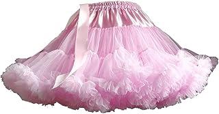 ODOKEI Adulti Lussuosa Tutu Petticoat Costume Balletto di Ballo Multi-Strato Morbido Chiffon Sottogonna in Tulle Tutu dell...