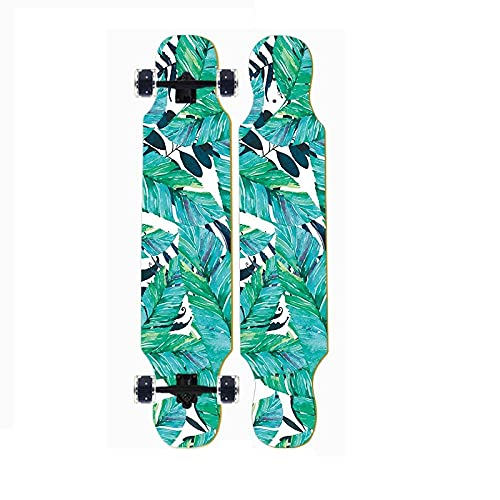 Longboard Skateboard,42x9.8 Inches,8 Layers of Canadian Maple,ABEC-11 Bearing,Cruiser,For Beginners Teens Boys and Girls,Maximum Load of 200 Kg-Tablero largo-24_107 * 25cm