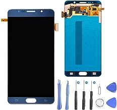 TOVE LCD Screen Display Touch Screen Digitizer Frame Assembly for Samsung Galaxy Note 5 N920 N920A N920T N920V N920P N920R4 N920F Replacement,Repair Tool Kit(Dark Blue)