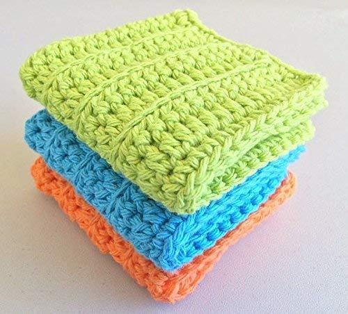 Cotton Crochet DishclothWashcloth Set 9 inch