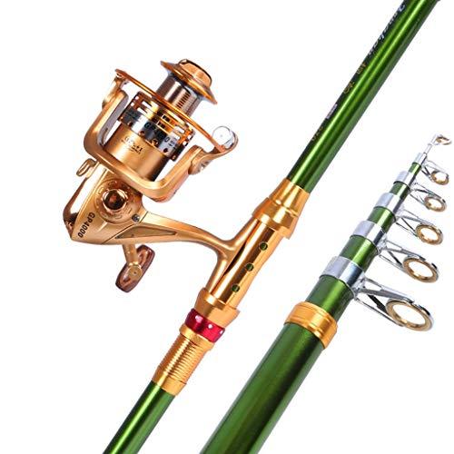 NYKK Angelrute Werfen Sea Rod Set Rod Sea Rod Angelrute Wurf Rod Ultra Light Super Hard Sea Fishing Rod Long Shot Rod Teleskop Angelrute Reise Angelrute (Size : 2.7meters)
