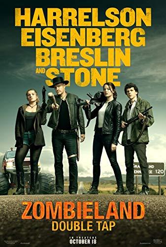 ZOMBIELAND DOUBLE TAP (2019) Original Authentic Movie Poster 27x40 - DS - Woody Harrelson - Jesse Eisenberg - Emma Stone - Abigail Breslin