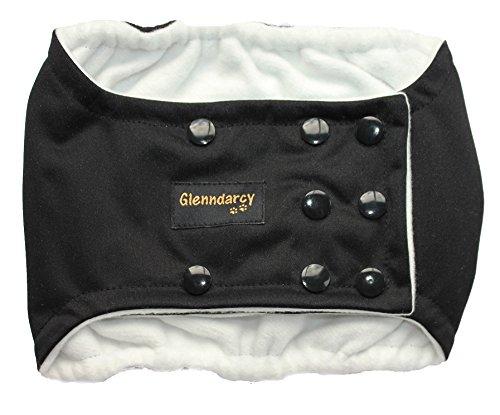 Glenndarcy Hundewindeln - Urininkontinenz - Poppers - Black Small Band & 2 Washable Pads
