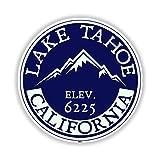 LAKE TAHOE CALIFORNIA SIERRA NEVADA ORIGINAL LAKE BOAT BOATING BEAR - Sticker Graphic - Auto, Wall, Laptop, Cell, Truck Sticker for Windows, Cars, Trucks