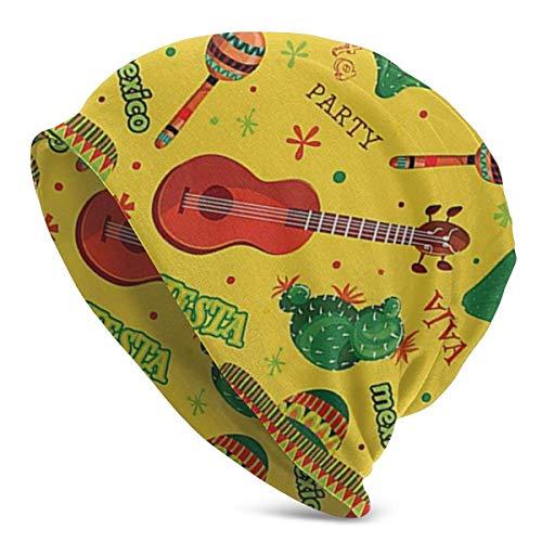 CVDGSAD Fiesta Party Dancing Patriot Mütze für Männer/Frauen Sommer dünne Schädel Cap Baggy Oversize Strickmütze