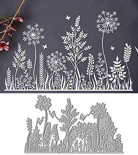 Butterfly Vitality Edge Metal Die Cuts,Flower Leaf Butterfly Grass Cutting Dies Cut Stencils for DIY Scrapbooking Album Decorative Embossing Paper Dies Card Making