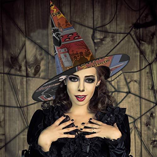 AISFGBJ Walking Dead Negan Whack A Survivor Witch Hat Halloween Unisex Disfraz para da Festivo Halloween Navidad Carnaval Fiesta