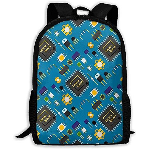 Black Waltzs Schulrucksack Computer-Chip-Technologie Prozessor Leiterplatte Bookbag Lässige Reisetasche Für Teen Boys Girls