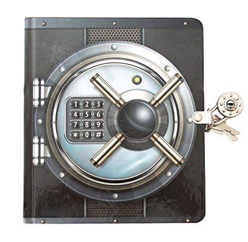 Playhouse Vault Door Lock & Key Lined Page Diary for Kids
