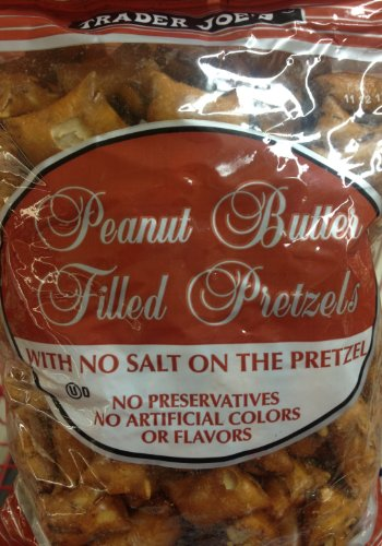 4 x 16oz Trader Joe#039s Peanut Butter Filled Pretzels with No Salt on the Pretzel 4 Pounds Total No Preservatives No Artificial Colors or Flavors