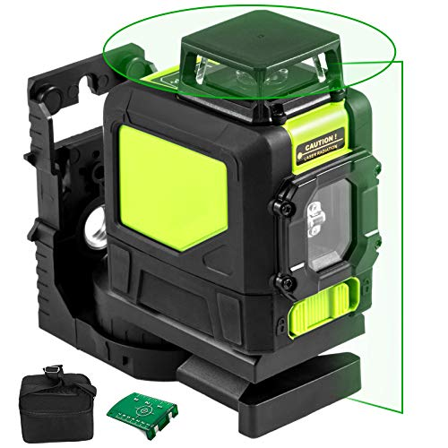 VEVOR Nivel láser de 5 Líneas Nivel Láser Rotativo 360 ° Roja Verde 901CG Horizon Vertical