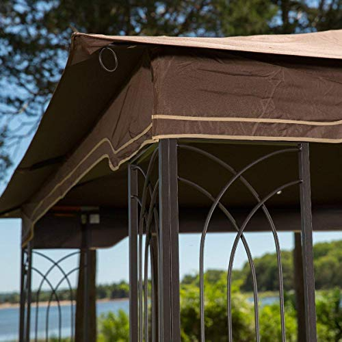Sunjoy L-GZ798PST-E Regency Gazebo with Mosquito Netting