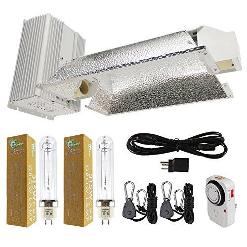 Hydro Crunch NB379900100-KIT 630-Watt Ceramic Metal Halide CMH Dual Lamp Enclosed Style Complete Grow Light System with 3100K Full Spectrum Bulbs