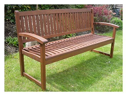 Henley Hardwood 3 Seat Garden Bench Great Outdoor Furniture For Your Garden...