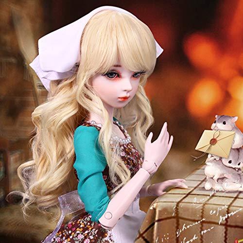 GODNECE BJD Doll 1/3, 23 articulaciones, vestido de princesa, juego de muñecas, figura de acción de juguete, muñeca articulada, juego de muñeca de Cenicienta