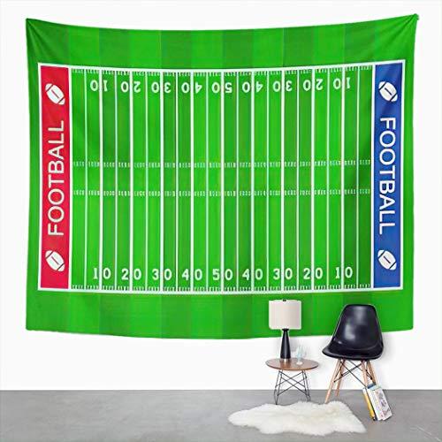 Y·JIANG Tapiz de campo de fútbol americano, área de acción para atletas, pelota atlética para el hogar, dormitorio, manta ancha para colgar en la pared para sala de estar, dormitorio, 152 x 127 cm