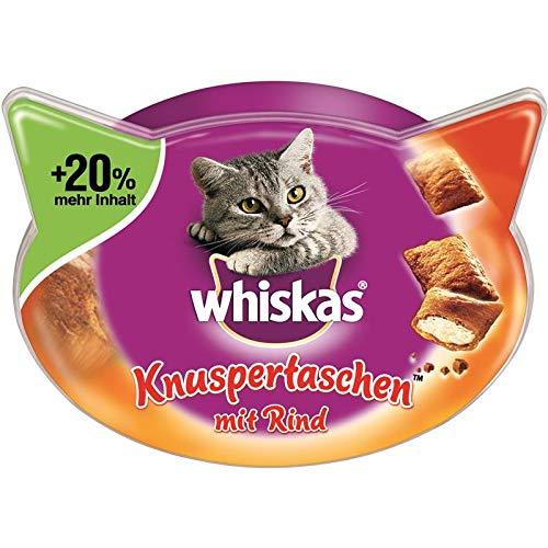 whiskas Knuspertaschen mit Rind   6X 72g Katzensnack