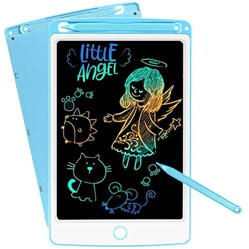 SCRIMEMO Colorato Tavoletta Grafica LCD Scrittura Digitale 10 Pollice, Elettronica Lavagna Cancellabile Tavolo da Disegno Portatile Lavagnetta Doodle per Bambini Insegnante Studenti Progettista (Blu)
