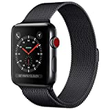 OKPPA Compatible for Apple Watch Band 38mm 40mm 42mm 44mm, Adjustable Magnetic Stainless Steel Mesh Metal Closure Loop with Iwatch Series 5 4 3 2 1(Black, 38mm/40mm)
