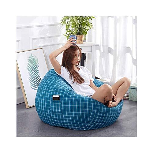 WAJI Bean tas markt panel klassieke bean bag stoel - grote, eenpersoons slaapkamer zitzak bank stof, 100 * 100cm - indoor en outdoor waterdicht