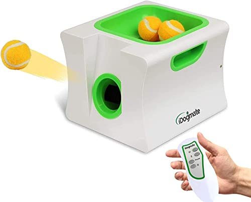 IDOGMATE Interactive Automatic Tennis Ball Thrower for Dogs