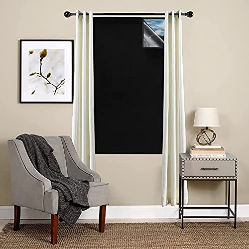 "Blackout Window Cover - 42"" w X 72"" L Blackout for All Bedroom Windows, Blocks Light, Sleep Longer, Reduces Window Noise"