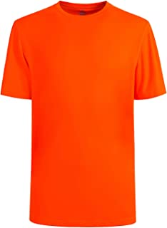 Mens Quick Dry Fit Mositure Wicking Athletic Performance T Shirt -Crewneck Outdoor Activewear Tops
