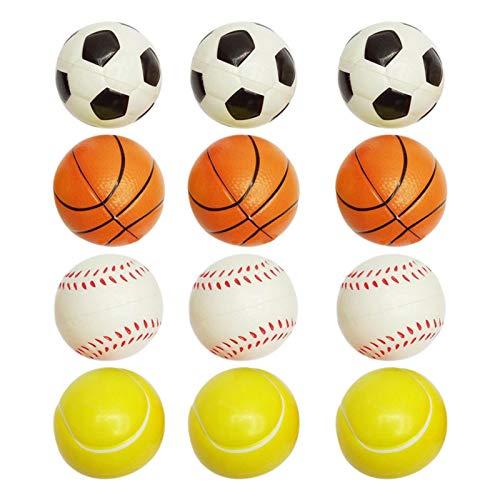 Palline in schiuma Set di palline morbide Palline antistress Palline da gioco 12 pezzi Mini palline sportive Pallina da tennis in spugna Palline antistress Softball Piccola per bambini e adulti