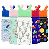 Simple Modern 14oz Summit Kids Water Bottle Thermos with Straw Lid - Dishwasher Safe Vacuum...