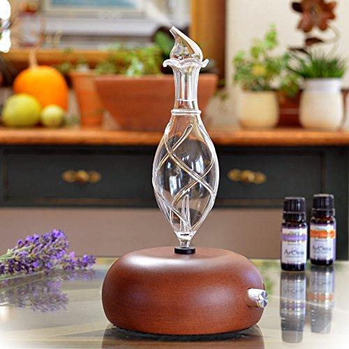 ArOmis Aromatherapy Diffuser - Professional Grade - Wood and Glass (Orbis Nox Vitis), Premium, Essential Oil Diffuser, Nebulizer, Nebulizing Machine, Waterless