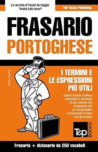 Frasario Italiano-Portoghese e mini dizionario da 250 vocabo
