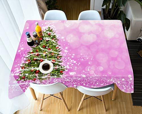 Tafelkleden 3D Tablecloth, digitale print in houtlook, korrel, afwasbaar rechthoekig/tafelkleed vierkant 335 * 228cm D