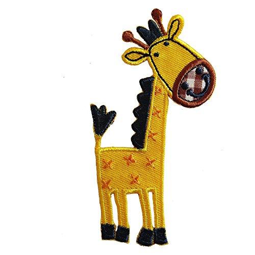 Giraffe 5X10cm opstrijkapplicatie patch kleding patch strijkafbeelding stof om op tas hoed sjaal jeans jas kussen deurschild plafond broek vlag hemd jurken pet rok turnzak halsdoek wimpel