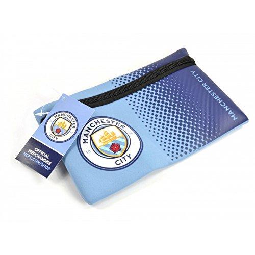 Manchester City FC Official Football Fade Design Pencil Case