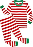 Boys Christmas Pajamas Children Cotton Clothes Kids Pjs Pants Set Red Size 8 Years