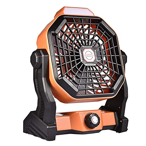 N&G Daily Equipment Camping Fan with LED Lantern Portable Desk Fan USB Rechargeble Tent Fan Light for Outdoor Camping Home Office
