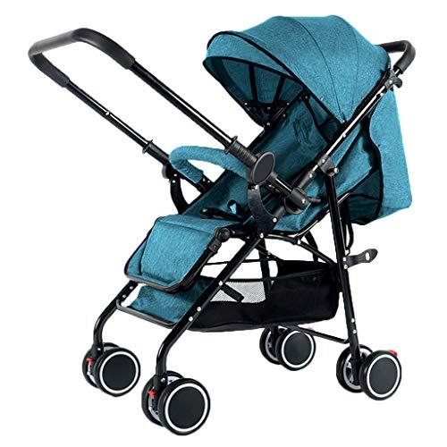 KIVEM Lichtgewicht wandelwagen Vanaf de geboorte tot 25kg Pushchairs Voor pasgeboren Compact Reizen Buggy met Liggende positie Een hand Opvouwbare Five-Point Harnas Geweldig voor Vliegtuig Uitbreidbare UV Bescherming Luifel